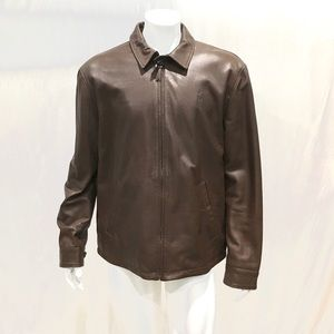 Ralph Lauren Maxwell Men's Lambskin Leather Jacket